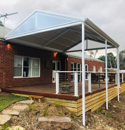 Pitched Roof Pergola in Melbourne